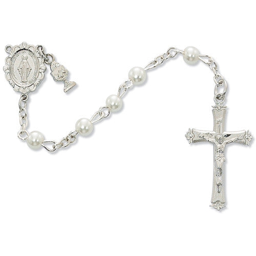 Round White Pearl Rosary 5mm