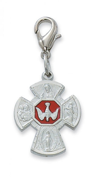 4 Way Clipable Charm - St. Benedict's Catholic Store
