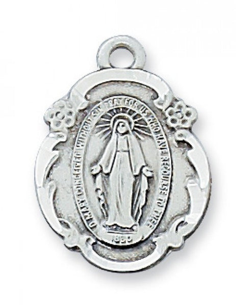 "Miraculous Medal SS 3/4"" x 1/2"""" - St. Benedict's Catholic Store"