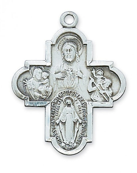 "4-Way Cross SS 1 1/4"" - St. Benedict's Catholic Store"