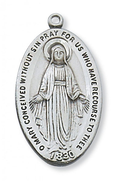 "Miraculous Medal SS 1 5/16"" - St. Benedict's Catholic Store"