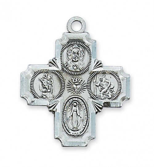 "4-way Cross SS 1"" - St. Benedict's Catholic Store"