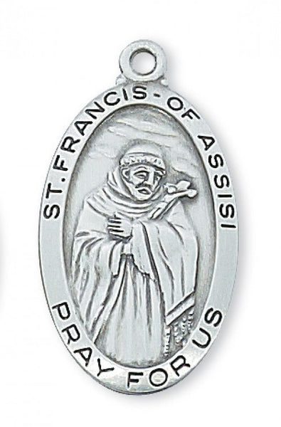 "St. Francis SS 1 1/8 x 5/8"" - St. Benedict's Catholic Store"
