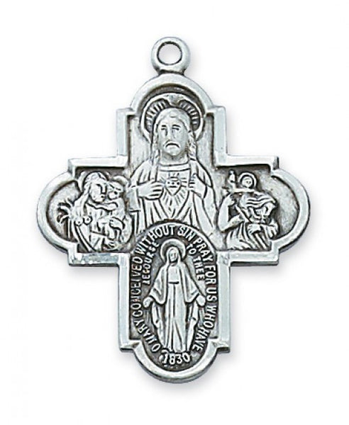 Sterling Silver 4 Way - St. Benedict's Catholic Store