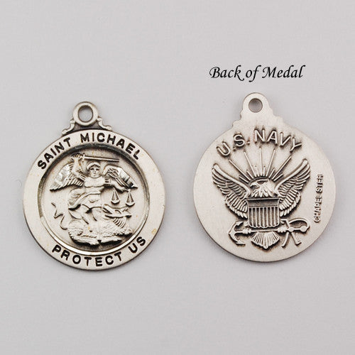 Navy Service St. Michael Medal SS 7/8""