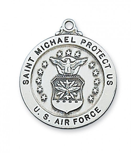 "Air Force Service Medal St. Michael SS 7/8"" - St. Benedict's Catholic Store"