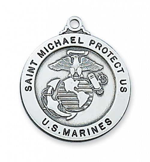 "Marine Service St. Michael Medal SS 7/8"" - St. Benedict's Catholic Store"