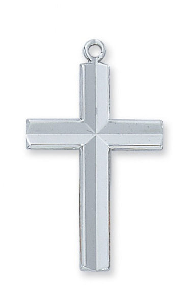 SS Engraved Cross 24 - St. Benedict's Catholic Store