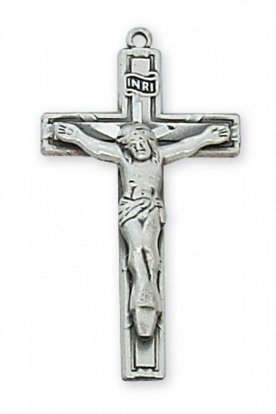 Antique Pewter Crucifix 18""