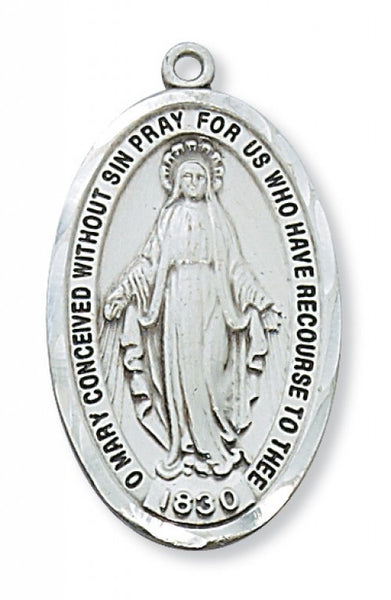 "Miraculous Medal SS 1 1/2"" - St. Benedict's Catholic Store"