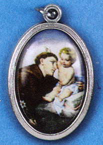 St Anthony Picture Medal - St. Benedict's Catholic Store