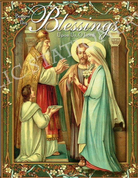 Matrimony Blessings Note Card - St. Benedict's Catholic Store