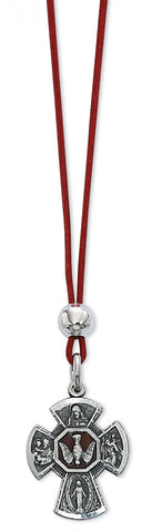 "18"" Corded 4 Way Pendant Red Cord"