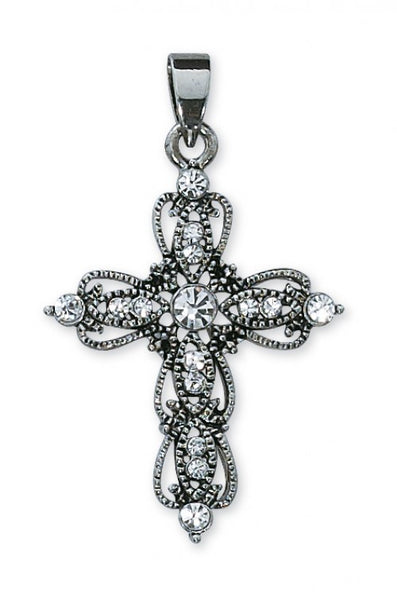 Rhinestone Cross Boxed - St. Benedict's Catholic Store