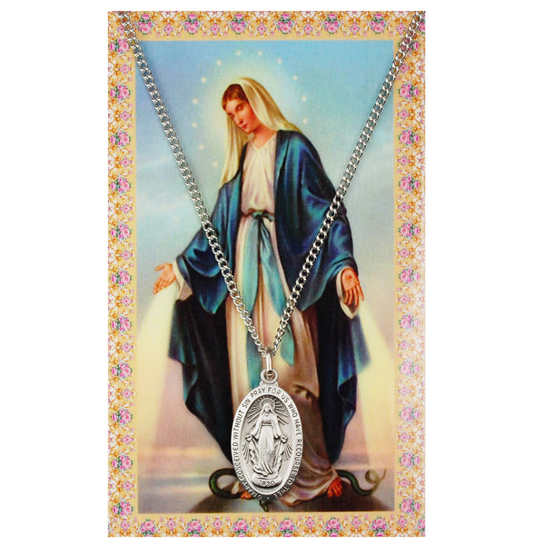 Miraculous Card Medal - St. Benedict's Catholic Store