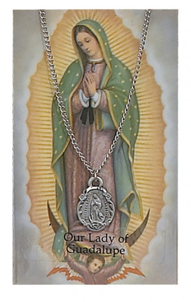 Our Lady of Guadalupe Card Medal - St. Benedict's Catholic Store