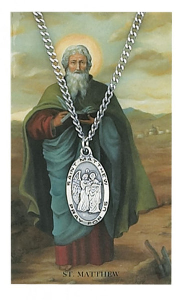 St Matthew Card Medal - St. Benedict's Catholic Store