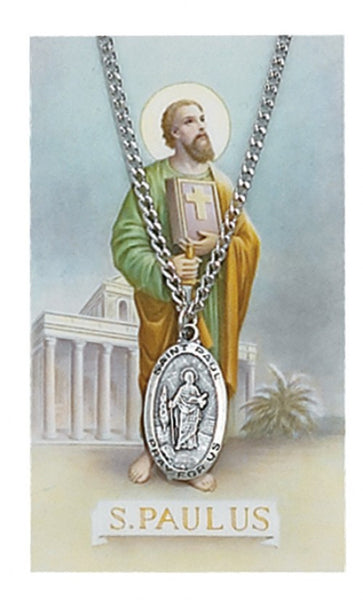 St Paul Card Medal - St. Benedict's Catholic Store