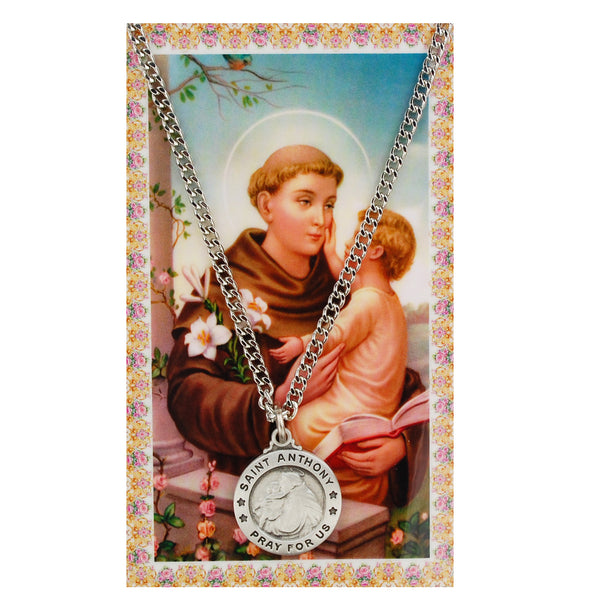 St Anthony Card Medal - St. Benedict's Catholic Store