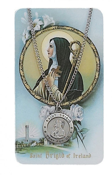 St Brigid Card Medal