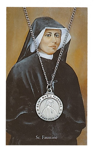 St Maria Faustina Card Medal - St. Benedict's Catholic Store