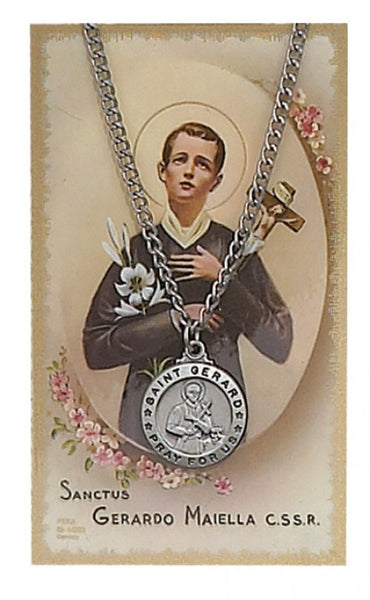St Gerard Card Medal - St. Benedict's Catholic Store