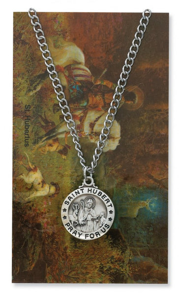 St Hubert Card Medal - St. Benedict's Catholic Store