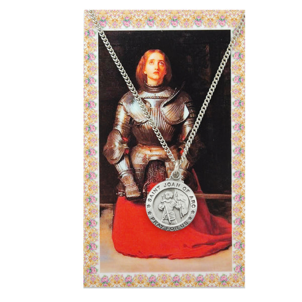 St Joan of Arc Card Medal - St. Benedict's Catholic Store