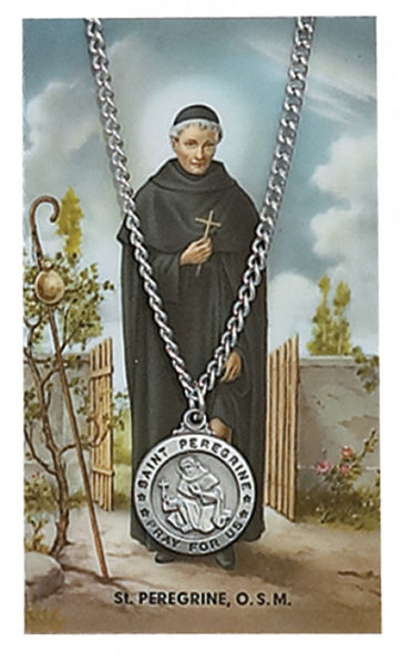 St Peregrine Card Medal - St. Benedict's Catholic Store