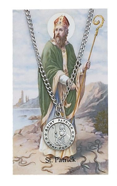 St Patrick Card Medal - St. Benedict's Catholic Store