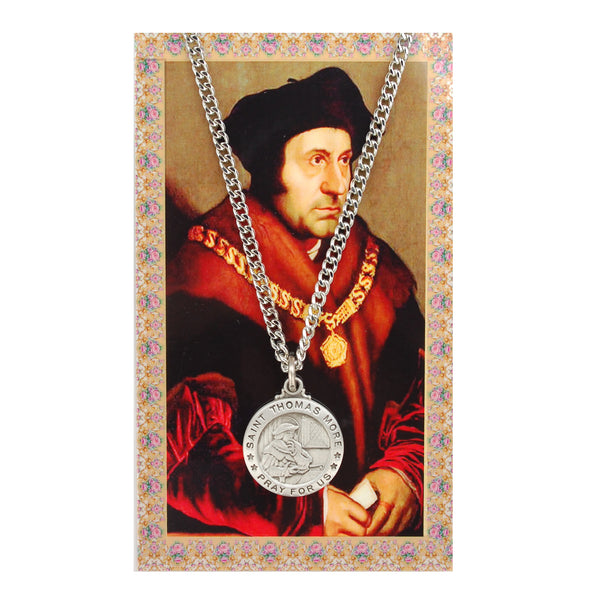 St Thomas More Card Medal - St. Benedict's Catholic Store