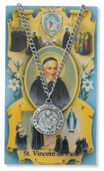 St Vincent de Paul Card Medal