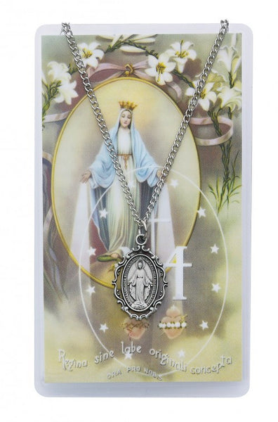 Miraculous Medal Prayer Card - St. Benedict's Catholic Store