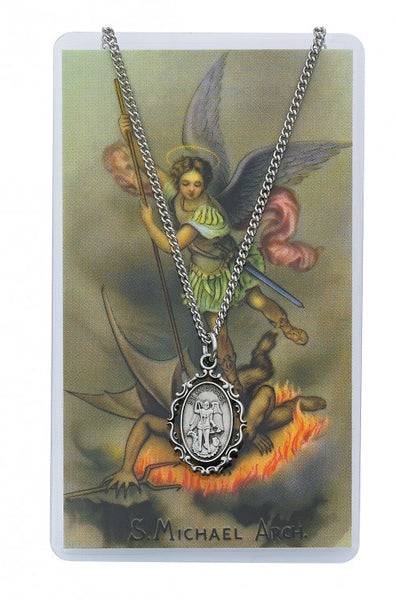 St Michael Medal Prayer Card