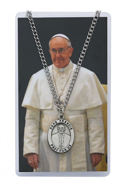 Pope Francis Prayer Card Medal - St. Benedict's Catholic Store