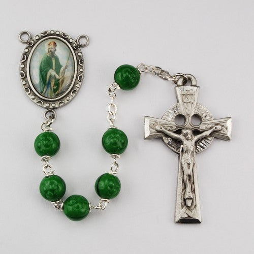 7mm Green St Patrick - St. Benedict's Catholic Store