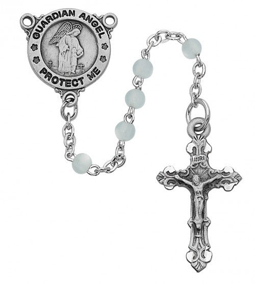 Blue Guardian Angel Rosary - St. Benedict's Catholic Store