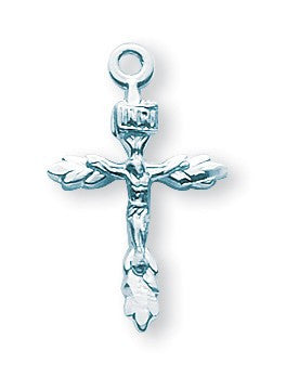 "SS Small Wheat Crucifix 18"" - St. Benedict's Catholic Store"