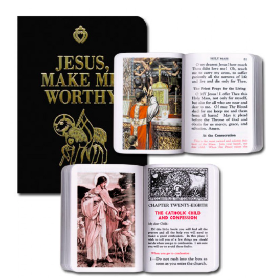 Jesus, Make Me Worthy Black Cover - St. Benedict's Catholic Store