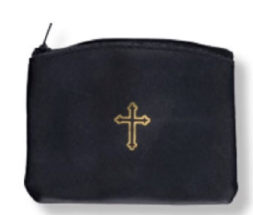 Leather Black Rosary Case