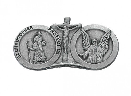 St Christopher Guardian Angel Visor Clip