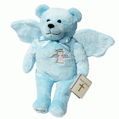 Guardian Angel Bear Blue