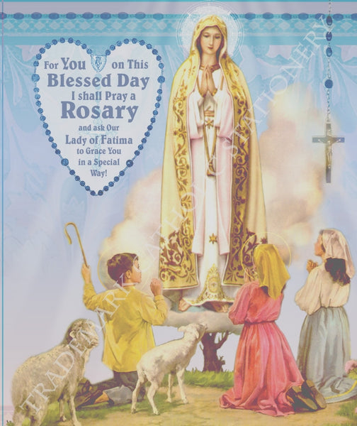 Fatima Rosary Note Card - St. Benedict's Catholic Store