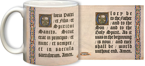 Latin - English Gloria Mug - St. Benedict's Catholic Store