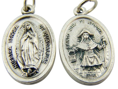 Lady of Guadalupe / Infant of Atoche Medal - St. Benedict's Catholic Store