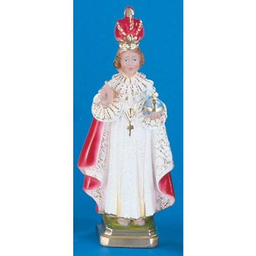 "12"" Hand Painted Italian Infant of Prague Plaster Statue"