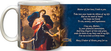 Mug Mary Undoer of Knots - St. Benedict's Catholic Store