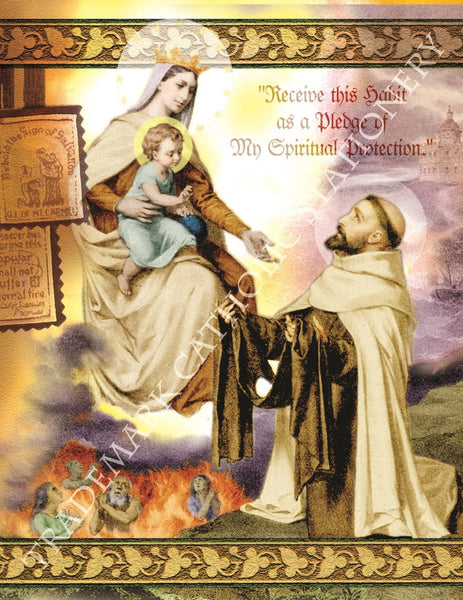 Our Lady of Mount Carmel Note Card - St. Benedict's Catholic Store