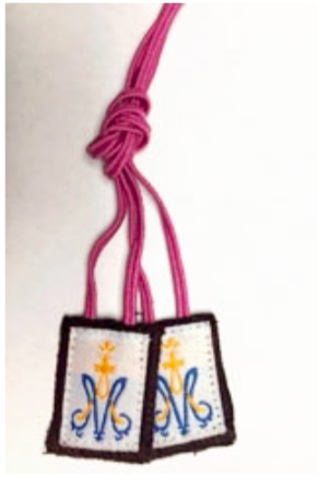 Children's Small Pink Cord Scapular - St. Benedict's Catholic Store