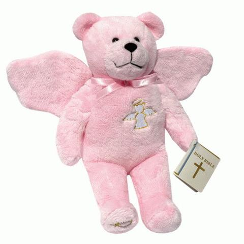 Guardian Angel Bear Pink